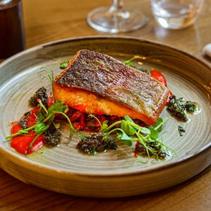 Salmon Fish Vegan Vegetarian Three Swans Hotel